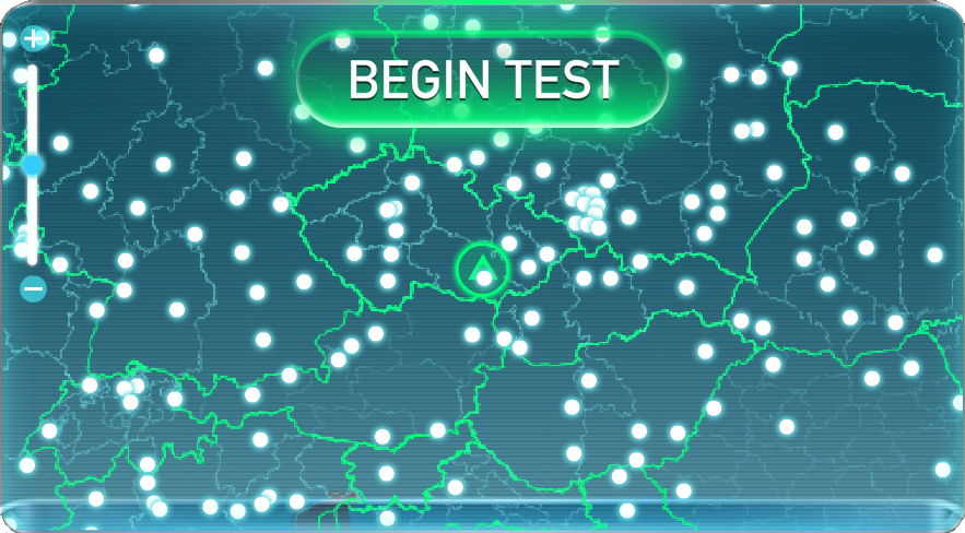 Test your Internet connection speed at Speedtest.net